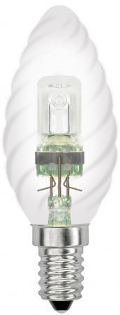 Лампа галогенная свеча витая Uniel 04112 E14 28W HCL-28/CL/E14 Candle Twisted лампа энергосберегающая 03861 e14 12w gold свеча на ветру витая золотая esl c21 tw12 gold e14