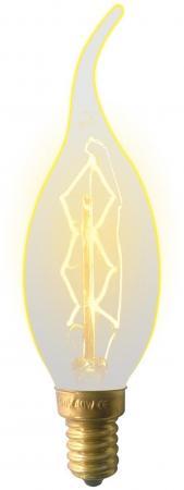 Лампа накаливания (UL-00000483) E14 60W свеча на ветру золотистая IL-V-CW35-60/GOLDEN/E14 ZW01 лампа энергосберегающая 03861 e14 12w gold свеча на ветру витая золотая esl c21 tw12 gold e14
