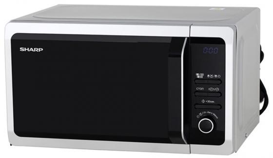 Микроволновая печь Sharp R6852RSL 800 Вт серебристый чёрный