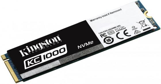 Твердотельный накопитель SSD M.2 480 Gb Kingston KC1000 Read 2700Mb/s Write 1600Mb/s PCI-E SKC1000/480G kingston kc1000 960gb ssd накопитель