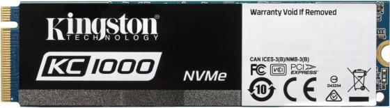 Твердотельный накопитель SSD M.2 960 Gb Kingston KC1000 Read 2700Mb/s Write 1600Mb/s PCI-E SKC1000H/960G внутренний ssd накопитель 960gb kingston kc1000 series ssd skc1000h 960g pci e m 2