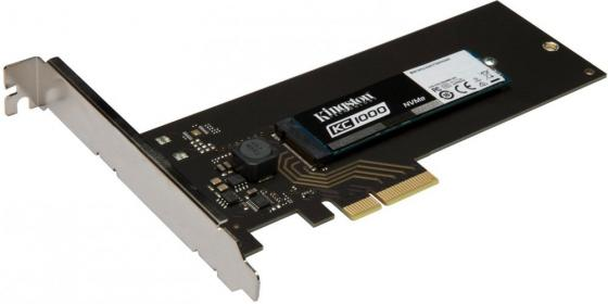 Твердотельный накопитель SSD M.2 480 Gb Kingston KC1000 Read 2700Mb/s Write 1600Mb/s PCI-E SKC1000H/480G pci e to