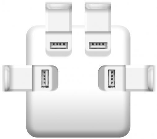 Сетевое зарядное устройство iconBIT FTB4U6A серебристый FT-0016C