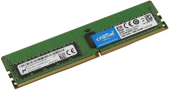 лучшая цена Оперативная память 16Gb (1x16Gb) PC4-21300 2666MHz DDR4 DIMM ECC Registered CL19 Crucial CT16G4RFS4266