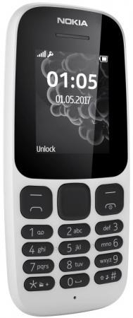 Мобильный телефон NOKIA 105 TA-1010 белый 1.4 8 Мб мобильный телефон ark benefit u281 белый 2 8 32 мб 3 симкарты
