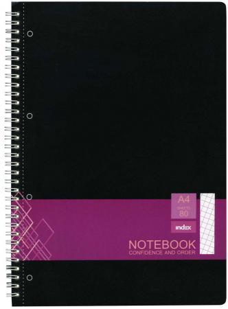 Тетрадь офисная Index IN0101-A480 80 листов клетка гребень блокнот index in0101 a460 a4 60 листов в ассортименте