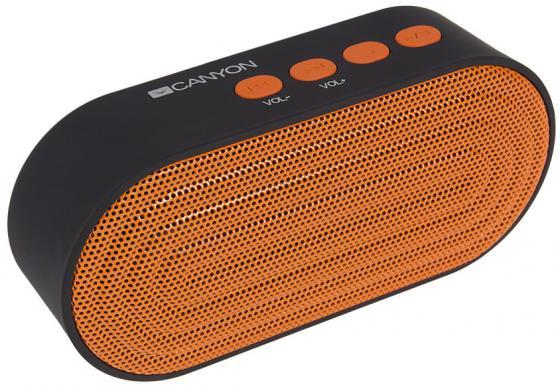 Портативная акустикаCanyon CNE-CBTSP3 черный/оранжевый цена и фото