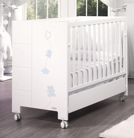 Кроватка Micuna Juliette Relax Luxe (с кристаллами Swarovski/white-blue) juliette