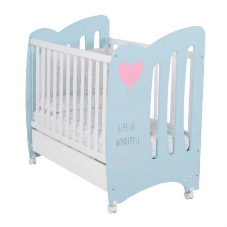 Кроватка Micuna Wonderful (sky blue/white) blue sky чаша северный олень