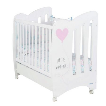 Кроватка Micuna Wonderful (white/pink)