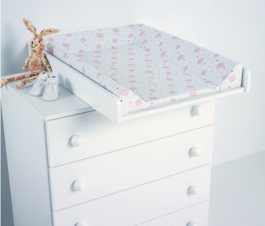 Доска пеленальная поворотная Micuna CP-1199 Plus 2 (white pink bears) матрасик micuna harmony пластиковый для пеленания cp 1684 pink