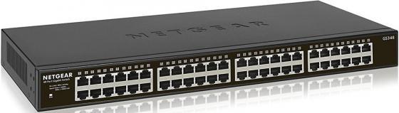 Коммутатор NETGEAR GS348-100EUS управляемый 48 портов 10/100/1000Mbps netgear fs728tlp 100eus