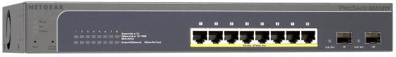 Коммутатор Netgear GS510TLP-100EUS управляемый 8 портов 10/100/1000Mbps