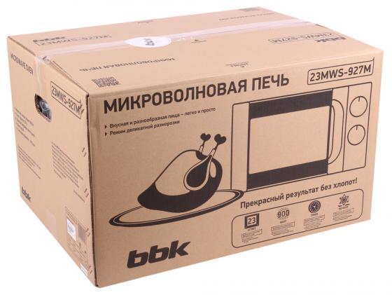 Микроволновая печь BBK 23MWS-927M/W 900 Вт белый свч bbk bbk 20mwg 742t w g 700 вт белый