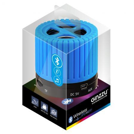 Портативная акустика Ginzzu GM-988C синий/черный цена и фото