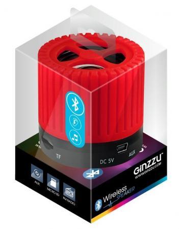 Портативная акустика Ginzzu GM-988R красный/черный