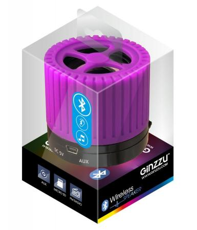 Портативная акустика Ginzzu GM-988V фиолетовый/черный ginzzu gm 988v