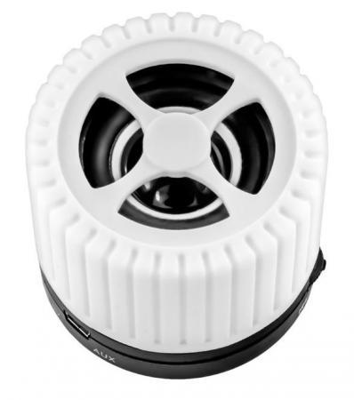 Портативная акустика Ginzzu GM-988W белый/черный ginzzu ginzzu s5140 16гб белый
