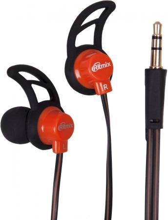 Наушники Ritmix RH-125 черный оранжевый