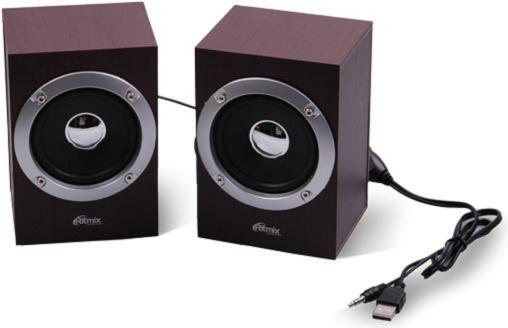 Колонки Ritmix SP-2012w 2x3 Вт вишневый колонки cbr cms 660 2x3 вт черный