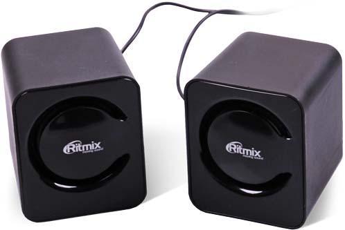 Колонки Ritmix SP-2050 2x3 Вт черный колонки ritmix колонки ritmix sp 140b black red