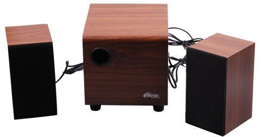 Колонки Ritmix SP-2150w 6+2x3 Вт коричневый колонки cbr cms 660 2x3 вт черный