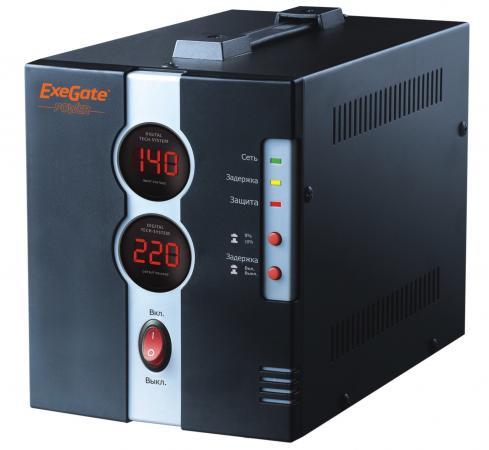 цена на Стабилизатор напряжения Exegate DCR-500D 1 розетка черный EP259015RUS