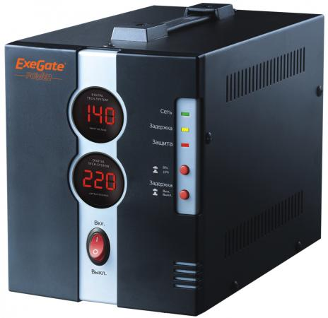 Стабилизатор напряжения Exegate DCR-1000D 1 розетка EP259016RUS стабилизатор exegate power rp 500 259013