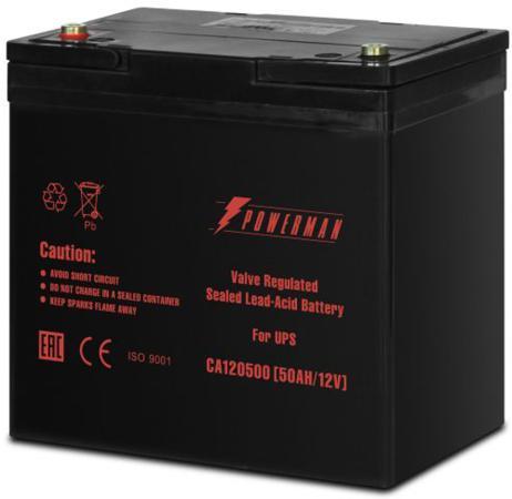 Батарея Powerman CA12500 12V/50AH батарея powerman ca1272 12v 7 2ah