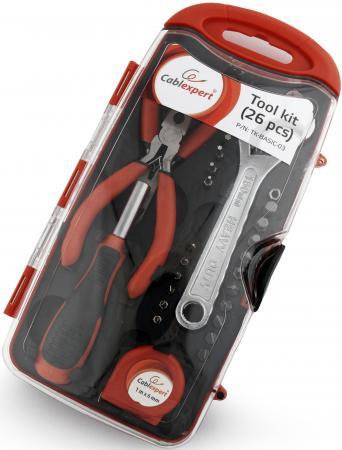 Набор инструментов Gembird Cablexpert TK-BASIC-03 26 предметов набор инструментов gembird cablexpert tk home 01 24 предмета