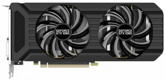 Видеокарта 6144Mb Palit GeForce GTX1060 Dual PCI-E 192bit GDDR5 DVI HDMI DP OEM видеокарта msi geforce gtx 1060 1594mhz pci e 3 0 6144mb 8100mhz 192 bit dvi hdmi hdcp gtx 1060 gaming x 6g