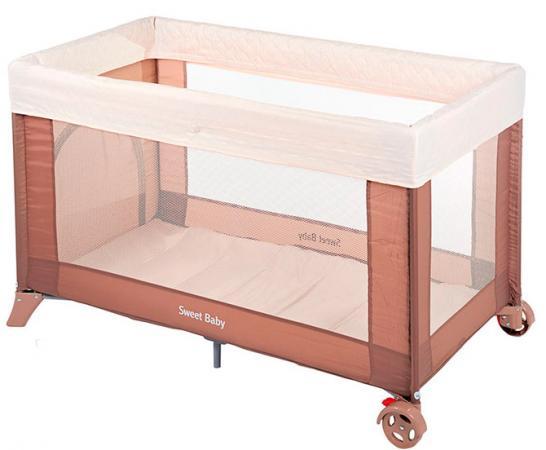 Манеж-кровать Sweet Baby Mantellina (cacao) игровой манеж sweet baby carnevale colore quadro 389 766