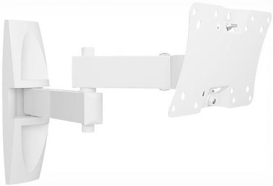 Фото - Кронштейн Holder LCDS-5064 белый для ЖК ТВ 10-32 макс 200x100 наклон 15-25° поворот 350° 2 колена до 30 кг nina ricci юбка до колена
