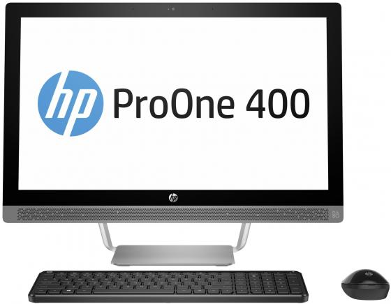 "Моноблок 23.8"" HP ProOne 440 G3 AiO 1920 x 1080 Intel Core i3-7100T 4Gb 1Tb Intel HD Graphics Windows 10 Home серебристый черный 2RU03ES"