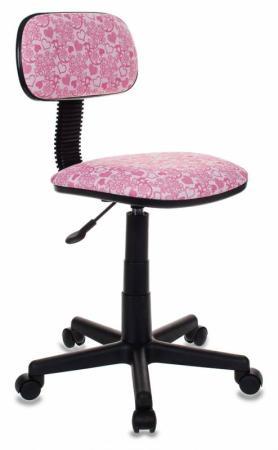 Кресло детское Бюрократ CH-201NX/HEARTS-PK розовый сердца 481637