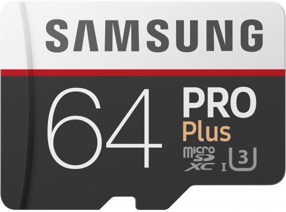 Карта памяти Micro SDXC 64Gb Class 10 Samsung MB-MD64GA/RU + SD adapter цена 2017