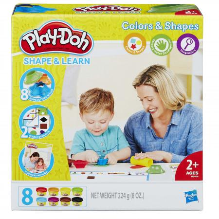 Набор для лепки HASBRO Play-Doh ЦВЕТА И ФОРМЫ 8 цветов play doh игровой набор магазинчик домашних питомцев