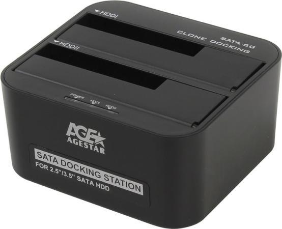 Док станция для HDD 2.5/3.5 SATA AgeStar 3UBT6-6G USB3.0 черный адаптер usb bluetooth v 2 0 mobiledata ubt 208
