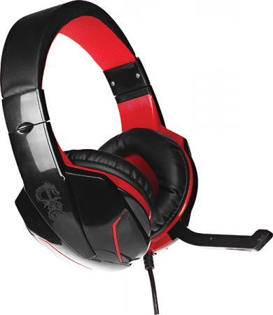 Игровая гарнитура проводная QUMO Bionic GHS0002 (21700) черный красный игровая гарнитура проводная qumo stealth черный 24038