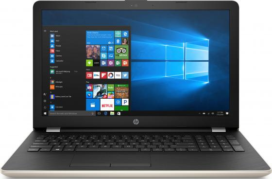 "Ноутбук HP 15-bs055ur 15.6"" 1366x768 Intel Core i3-6006U 500 Gb 4Gb Intel HD Graphics 520 черный золотистый Windows 10 Home 1VH53EA"
