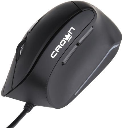 Мышь проводная Crown CMM-960 Health чёрный USB мышь проводная crown cmxg 614 чёрный usb