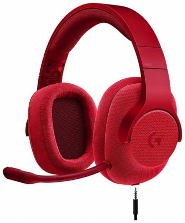 Гарнитура Logitech G433 (981-000652) красный гарнитура logitech g433 surround sound gaming headset fire red 981 000652