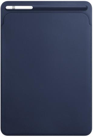 Чехол Apple Leather Sleeve для iPad Pro 10.5 синий MPU22ZM/A