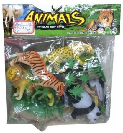 Игровой набор Shantou Gepai Дикие животные 635670 9 см  ассортименте