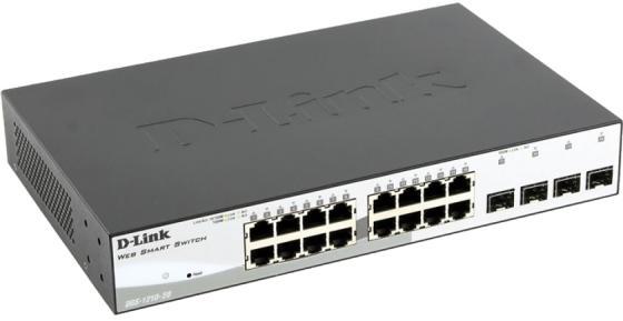 Коммутатор D-LINK DGS-1210-20/F1A управляемый 16 портов 10/100/1000Mbps коммутатор d link dgs 1210 28 c1a f1a 24порта 10 100 1000mbps 4xsfp