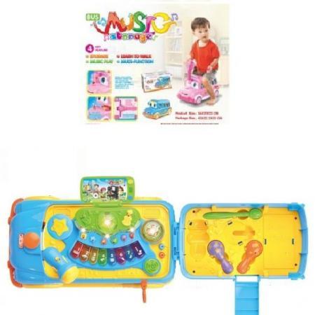 Каталка-машинка Shantou Gepai Музыкант пластик от 3 лет со звуком разноцветный настольная игра shantou gepai аэрофутбол 5016