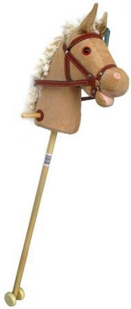 Фото - Лошадка-скакалка Shantou Gepai Лошадка на палочке с колесиками текстиль от 3 лет музыкальная бежевый 61840 ролевые игры коняша лошадка на палочке фея