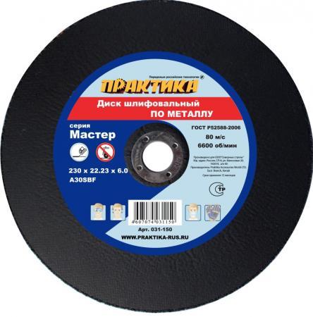 Диск шлифовальный Практика 230х22х6 по металлу 031-150