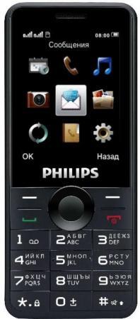 """Мобильный телефон Philips Xenium E168 черный 2.4"""""""