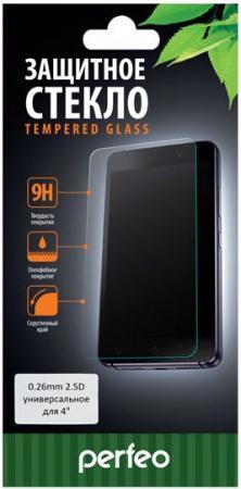 Защитное стекло Perfeo универсальное для смартфонов 4 PF-TG-UNI4 защитное стекло perfeo для huawei p8 lite 17 0 33мм 2 5d full screen asahi 83 золотистый pf 5070 pf tg fa hw p8lg